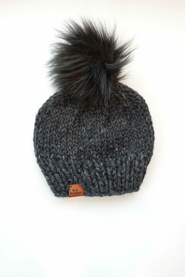 Solid Knit Hat | Charcoal
