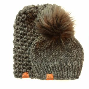 Mommy & Me Simple Slouch + Solid Hat | Charcoal