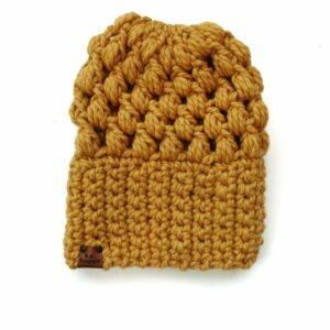 Puff Stitch Slouch Hat | Mustard