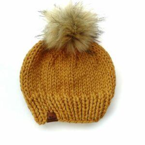 Solid Knit Hat | Mustard