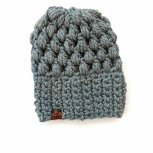 Puff Stitch Slouch Hat | Slate