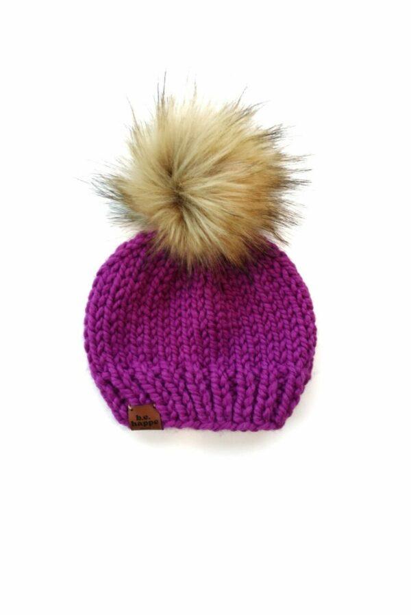 Solid Knit Hat   Lollipop