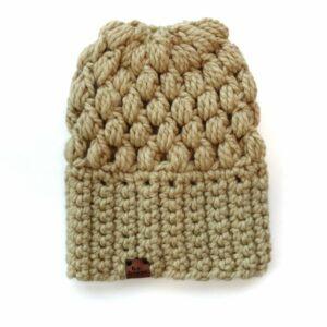 Puff Stitch Slouch Hat | Peanut