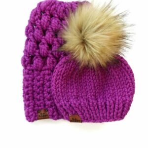 Mommy & Me Hats Puff Stitch Slouch + Solid | Lollipop
