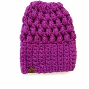 Puff Stitch Slouch Hat | Lollipop