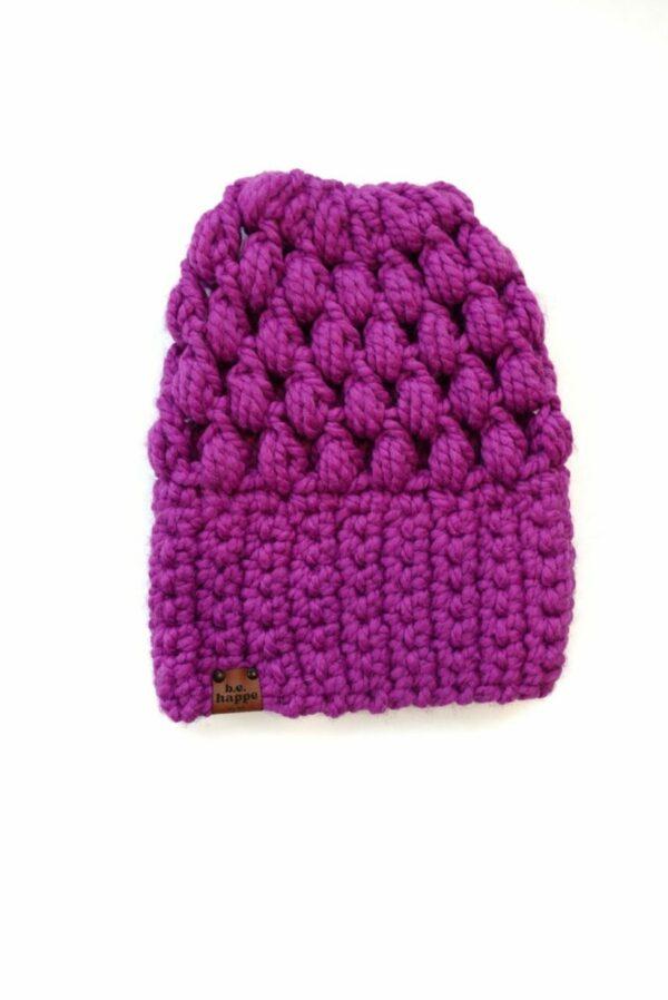 Puff Stitch Slouch Hat   Lollipop