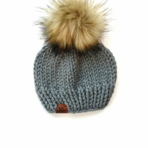 Solid Knit Hat | Slate