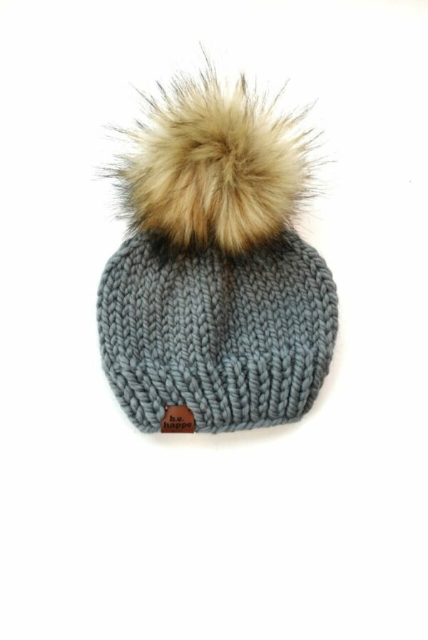 Solid Knit Hat   Slate