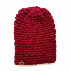 Simple Slouch Hat   Cranberry