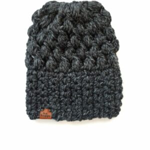 Puff Stitch Slouch Hat | Charcoal