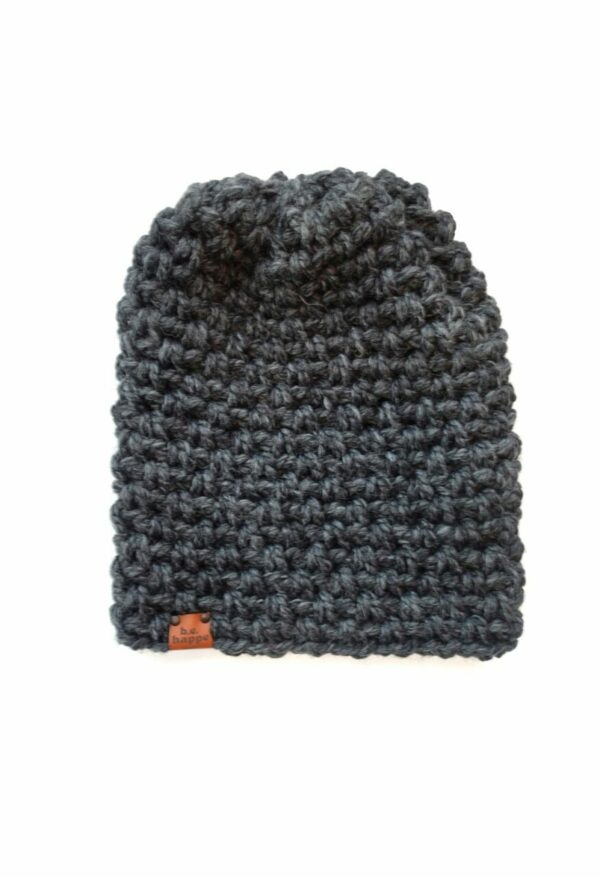 Simple Slouch Hat   Charcoal