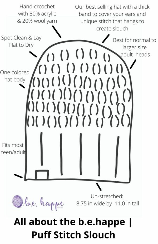 Puff Stitch Slouch Hat | Oatmeal