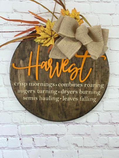 Fall Harvest Front Door Sign