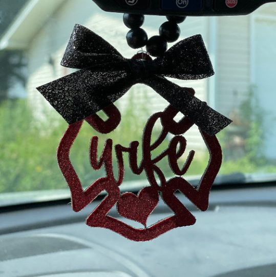 Firefighter Wife Car Mirror Charm