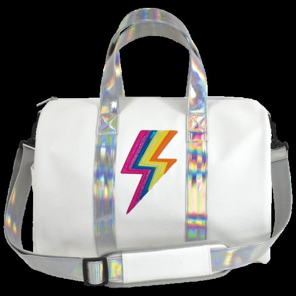 Rainbow Lightning Duffle Bag