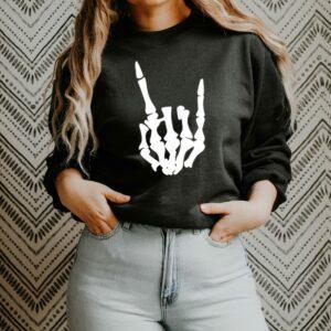 Rock On Skeleton Crewneck Sweatshirt