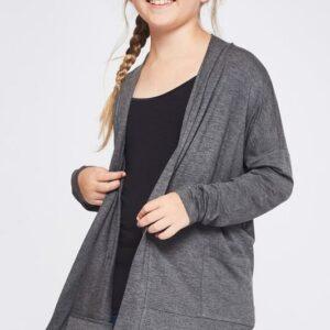 amelia charcoal side pocket cardigan