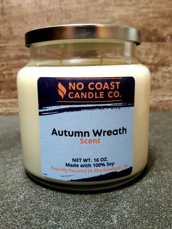 Autumn Wreath Candle