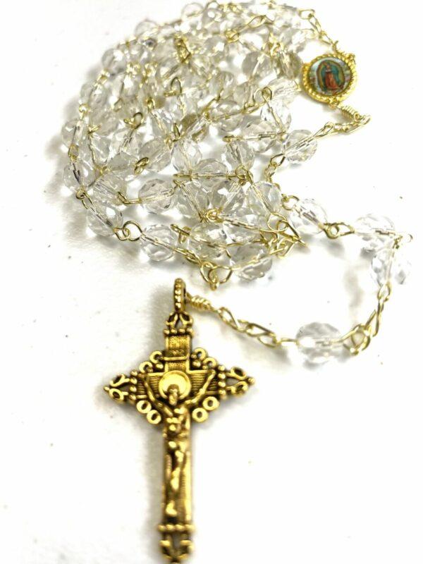 Handmade crystal glass beaded rosary