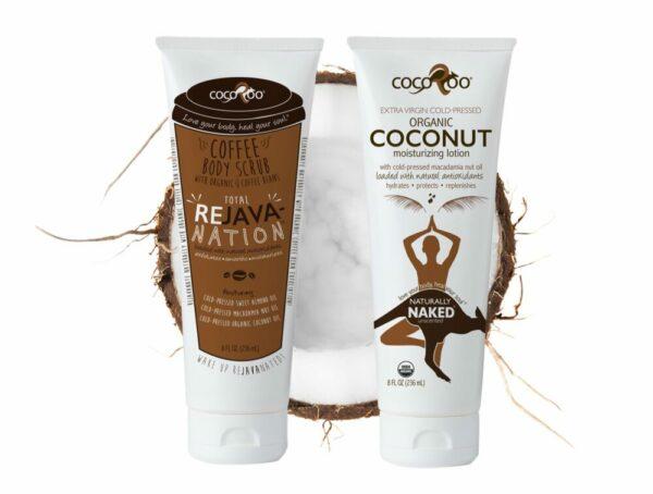 CocoRoo® Total ReJAVAnation Coffee Scrub & Naturally Naked Coconut Oil Moisturizer