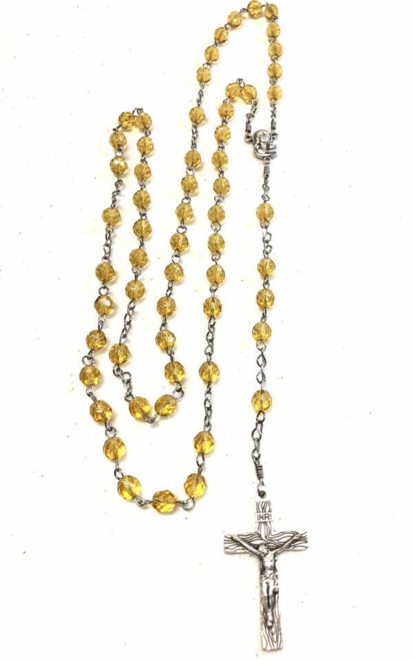 Handmade topaz rosary