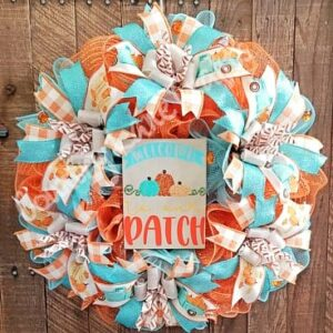 Fall Pumpkin Welcome to Our Patch Front Door Wreath