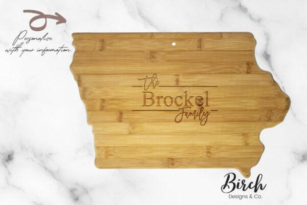 Iowa Personalized Cutting Board