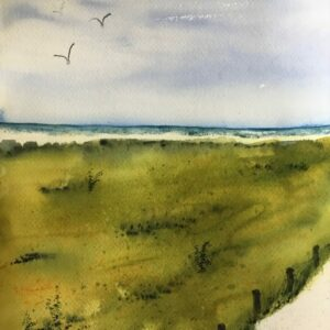 """Surf and Turf"" Original Watercolor"