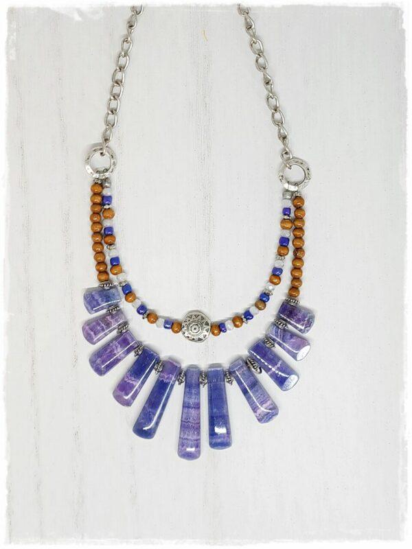 Denim Blue Agate Necklace