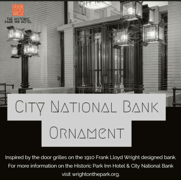 Frank Lloyd Wright City National Bank Ornament