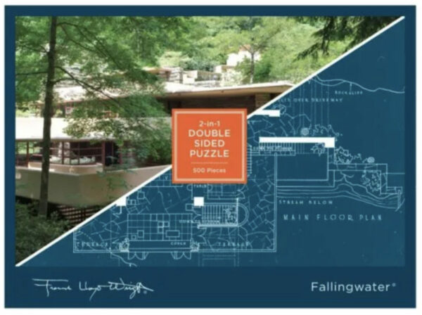 Frank Lloyd Wright Fallingwater 2-in-1 Double Sided Puzzle
