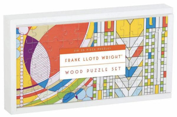 Frank Lloyd Wright Wooden Puzzle Set