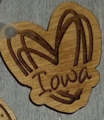 Iowa wooden keychains