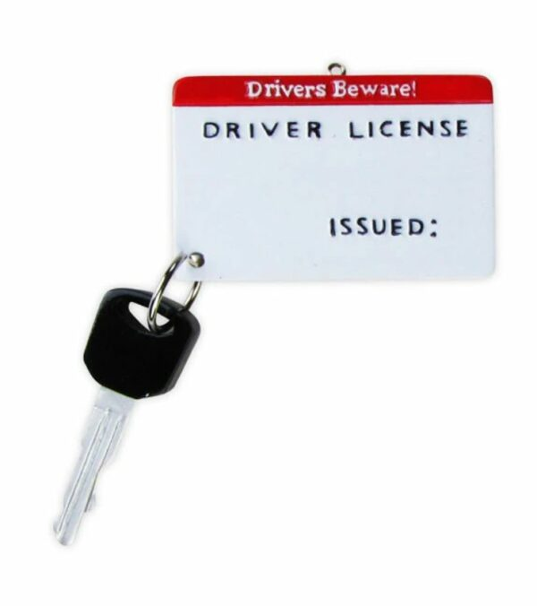 Personalized Driver's License Ornament
