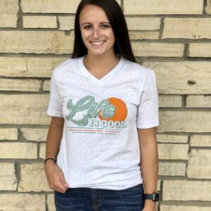 Life Is Good V-Neck Tee
