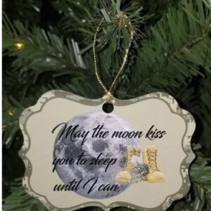 May the Moon Kiss You – Military Holiday Ornament