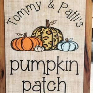 Personalized Pumpkin Patch Fall Sign