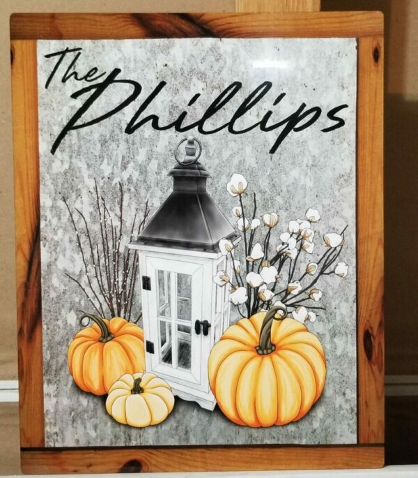 Fall Entryway Personalized Sign