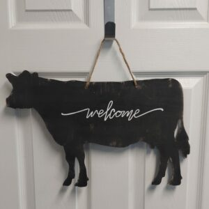 The Welcome Cow – Door Hanger