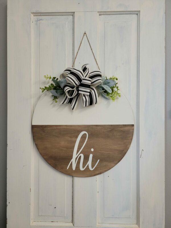 Hi Door hanger