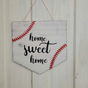 Baseball Home Sweet Home Doorhanger