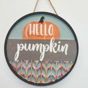 Blank 2 Piece Pumpkin Door Hanger