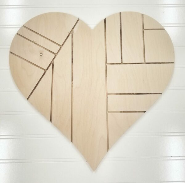 Blank Patchwork Heart