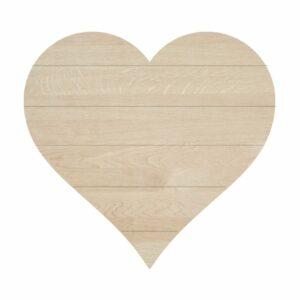 Blank Shiplap Heart
