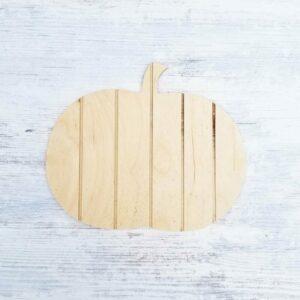 Blank Shiplap Pumpkin