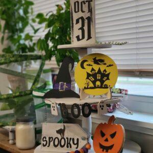 Halloween Tiered Tray Decor