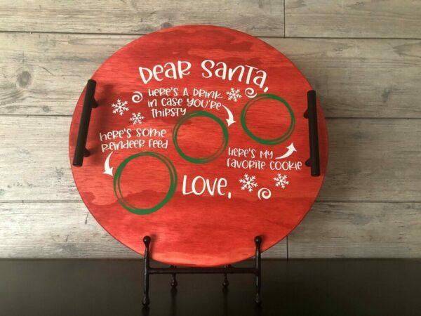 Dear Santa Wooden Tray