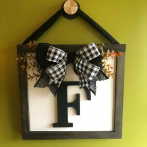 Monogram Framed Door Hanger