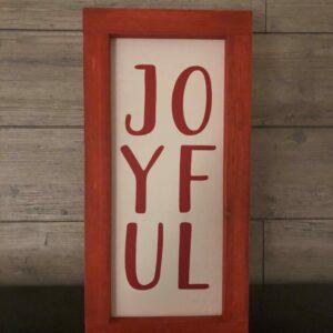 Joyful Vertical Framed Sign