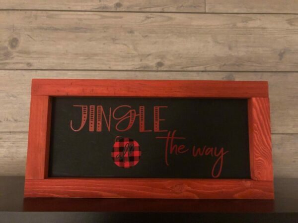 Jingle All the Way Framed Sign